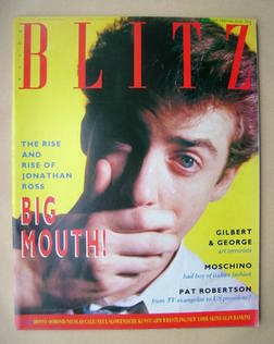 <!--1987-08-->Blitz magazine - August 1987 - Jonathan Ross cover