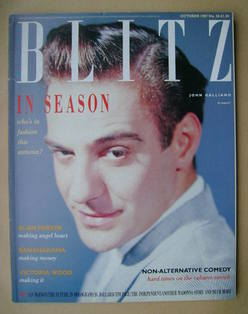 <!--1987-10-->Blitz magazine - October 1987 - John Galliano cover