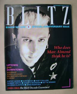 Blitz magazine - September 1985 - Marc Almond cover