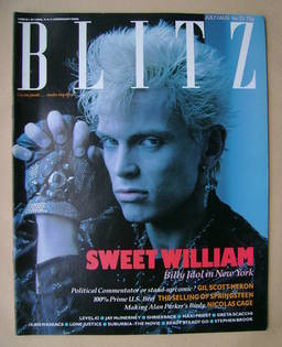 Blitz magazine - July / August 1985 - Billy Idol cover