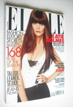 US Elle magazine - August 2012 - Katie Holmes cover