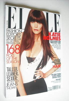 <!--2012-08-->US Elle magazine - August 2012 - Katie Holmes cover