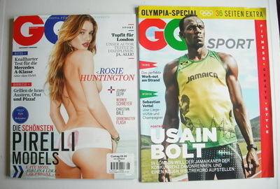 <!--2012-08-->German GQ magazine - August 2012 - Rosie Huntington-Whiteley
