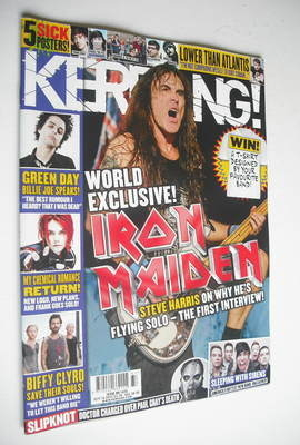 <!--2012-09-15-->Kerrang magazine - Iron Maiden cover (15 September 2012 -