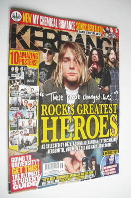 <!--2012-09-22-->Kerrang magazine - Kurt Cobain cover (22 September 2012 -