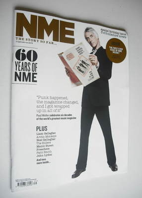 <!--2012-09-29-->NME magazine - Paul Weller cover (29 September 2012)