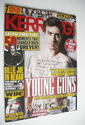 <!--2012-10-06-->Kerrang magazine - Young Guns cover (6 October 2012 - Issu
