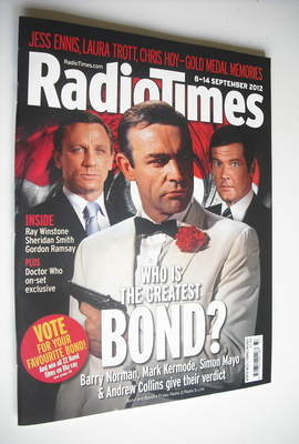 <!--2012-09-08-->Radio Times magazine - Who Is The Greatest Bond cover (8-1