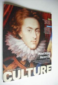 Culture magazine - Meet King Henry IX cover (30 September 2012)