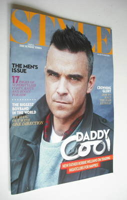<!--2012-09-30-->Style magazine - Robbie Williams cover (30 September 2012)