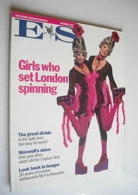 <!--1992-11-->Evening Standard magazine - Girls Who Set London Spinning cov