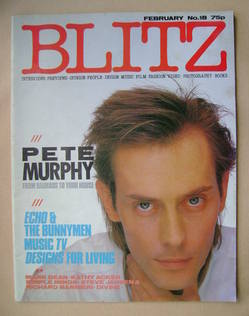 Blitz magazine - February 1984 - Pete Murphy cover