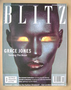 <!--1989-11-->Blitz magazine - November 1989 - Grace Jones cover