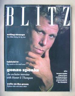 Blitz magazine - November 1988 - Tom Waits cover