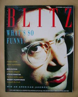 <!--1987-11-->Blitz magazine - November 1987 - Ben Elton cover
