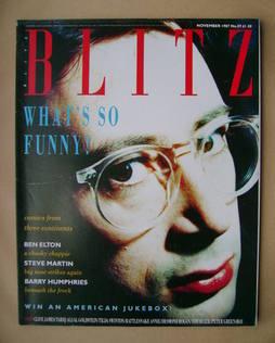 Blitz magazine - November 1987 - Ben Elton cover