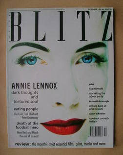<!--1989-10-->Blitz magazine - October 1989 - Annie Lennox cover