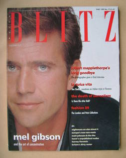Blitz magazine - May 1989 - Mel Gibson cover