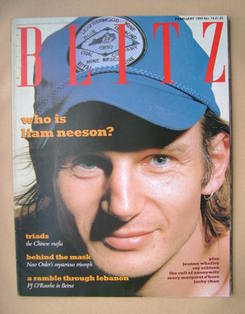 <!--1989-02-->Blitz magazine - February 1989 - Liam Neeson cover