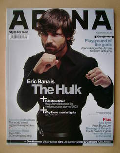 <!--2003-08-->Arena magazine - August 2003 - Eric Bana cover