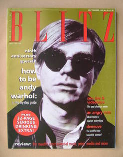 <!--1989-09-->Blitz magazine - September 1989 - Andy Warhol cover (No. 81)