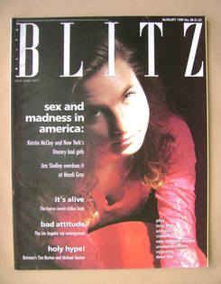 <!--1989-08-->Blitz magazine - August 1989 - Kristin McCloy cover