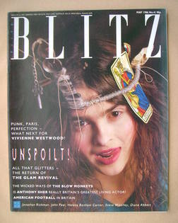 <!--1986-05-->Blitz magazine - May 1986 - Helena Bonham Carter cover (No. 4