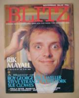 <!--1983-11-->Blitz magazine - November 1983 - Rik Mayall cover (No. 16)