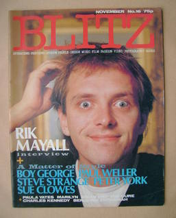 <!--1983-11-->Blitz magazine - November 1983 - Rik Mayall cover (No. 16)