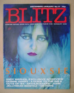 Blitz magazine - December 1983/January 1984 - Siouxsie Sioux cover (No. 17)