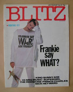 <!--1984-08-->Blitz magazine - July/August 1984 - Paul Rutherford cover (No