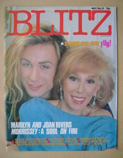 Blitz magazine - May 1984 - Marilyn and Joan Rivers cover (No. 21)