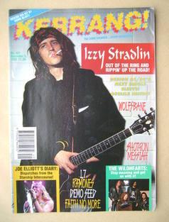 <!--1992-12-05-->Kerrang magazine - Izzy Stradlin cover (5 December 1992 -