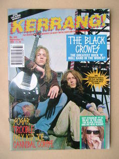 <!--1992-09-12-->Kerrang magazine - The Black Crowes cover (12 September 19