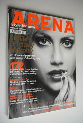 <!--2003-02-->Arena magazine - February 2003 - Brittany Murphy cover