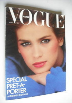 French Paris Vogue magazine - August 1980 - Gia Carangi cover