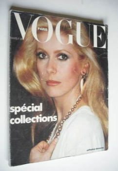 French Paris Vogue magazine - March 1976 - Catherine Deneuve cover