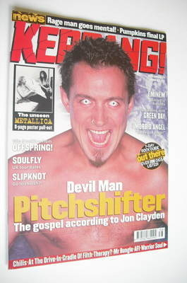<!--2000-09-23-->Kerrang magazine - Jon Clayden cover (23 September 2000 -