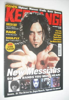 <!--2000-09-30-->Kerrang magazine - 50 New Bands You Must Hear cover (30 Se