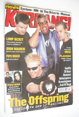 <!--2000-10-14-->Kerrang magazine - The Offspring cover (14 October 2000 -