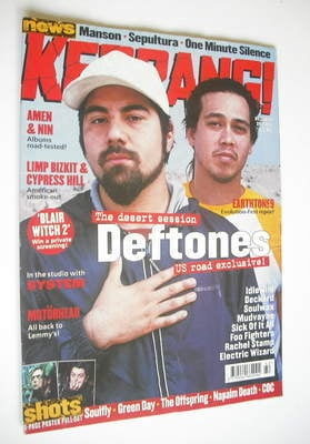 <!--2000-10-21-->Kerrang magazine - Deftones cover (21 October 2000 - Issue