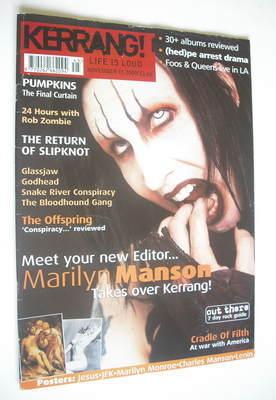 <!--2000-11-11-->Kerrang magazine - Marilyn Manson cover (11 November 2000