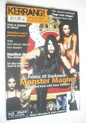 <!--2000-11-18-->Kerrang magazine - Dave Wyndorf cover (18 November 2000 -