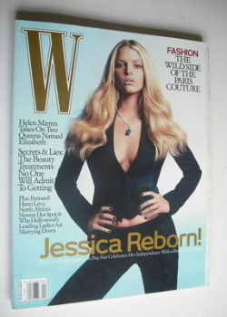 W magazine - April 2006 - Jessica Simpson cover