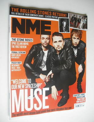 <!--2012-10-20-->NME magazine - Muse cover (20 October 2012)