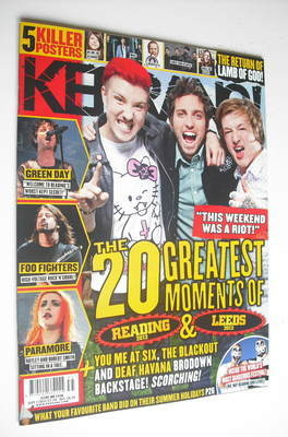 <!--2012-09-01-->Kerrang magazine - The 20 Greatest Moments of Reading 2012