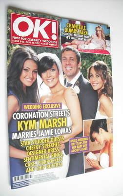 <!--2012-09-18-->OK! magazine - Kym Marsh and Jamie Lomas cover (18 Septemb