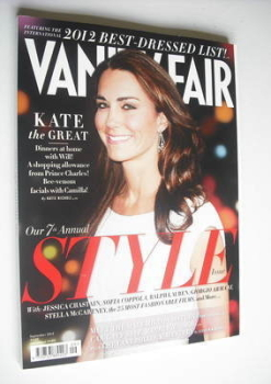 Vanity Fair magazine - Kate Middleton cover (September 2012)