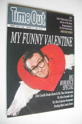 <!--1989-02-08-->Time Out magazine - Elvis Costello cover (8-15 February 19