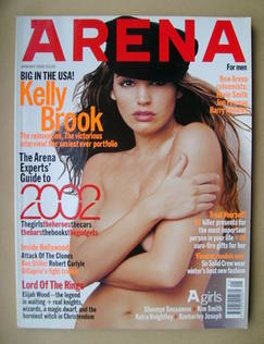 <!--2002-01-->Arena magazine - January 2002 - Kelly Brook cover